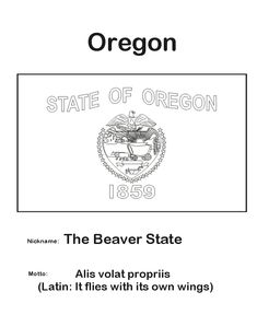 South dakota state flag homeschool m m co op midwest for Oregon flag coloring page