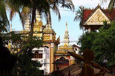 view at Wat Si Muang, Vientiane