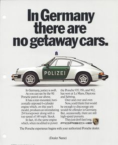 """""""Why are car ads so boooooooooring nowadays? Here are a bunch of vintage print ads from Porsche. When good writing in the auto industry was a thing. Carros Porsche, Porsche 935, Porsche Cars, Porsche Motorsport, Bugatti Cars, Porsche Carrera, Porsche Panamera, Porsche Classic, Bmw Classic Cars"""
