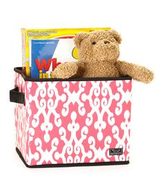 Take a look at this Pretty in Pink Collapsible Storage Bin by Scout by Bungalow on #zulily today!
