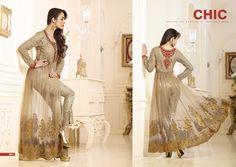 Malaika Arora Khan Heavy Readymade Georgette Dress Materials with Inner Satin Santoon Bottom and Chiffon Dupatta. (Catalog - 5434)