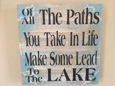 WOW, This is so true for Tim and I.  I love our lake and our neighbors.  Thank GOD for where he has led us.