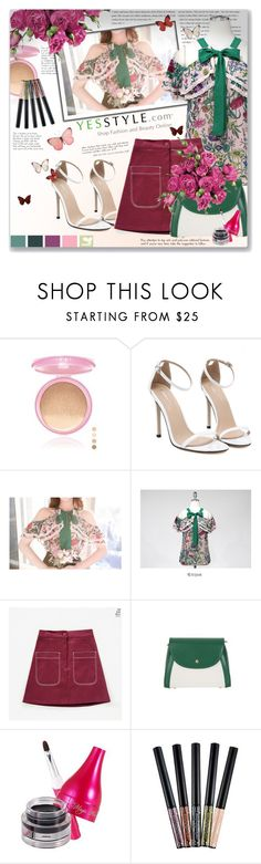 """Show us your floral Summer Outfit - Yesstyle contest with $40 coupon Prize"" by astromeria ❤ liked on Polyvore featuring CC, Marlangrouge, Holika Holika, H&M, Summer, floral and yesstyle"