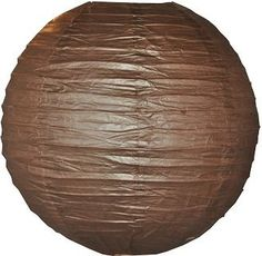 16 Inch Brown Even Ribbed Paper Lantern by Hometown Evolution, Inc.. $3.49. Our high quality paper lanterns are available in random sizes to appeal to your party space. Sturdywire ribbing creates a perfect lantern shape and assembles effortlesslyas themetal expander locks into place. Compatible with our White Standard 12 Foot Power Cord which is sold separately. Shipping Cost is a Flat Rate of just $6 per order. FREE Shipping on all orders over $75.
