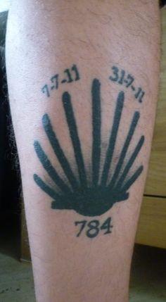 Camino Tattoo : Ramond de Vrede - Juli 2014 - Ramonds Camino de ...