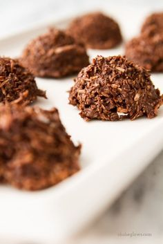 Literally just made these  chocolate coconut macaroons in 5 minutes and they are DELICIOUS. Maybe the best paleo desert I've tried yet