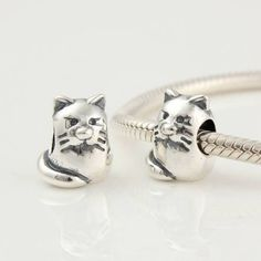 925 Sterling Silver Kitty Cat Charms Kitty Cat by ChainsCharms, $15.99