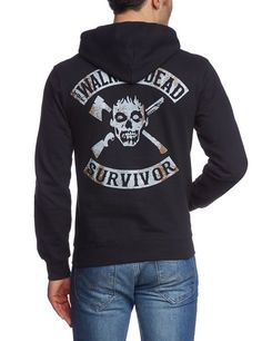 Coole-Fun-T-Shirt Sweatshirt The Walking Dead Survivor mit Kapuze Hoodie: Amazon.de: Bekleidung