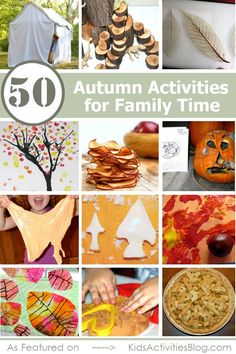 TONS of fall activities for kids... we are doing the rotting pumpkin right now!!  Hoping to make apple chips later this week.