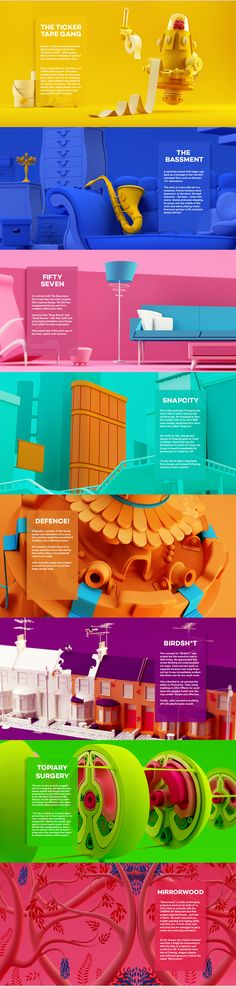 """All the Things"" is an astonishing 3D motion graphics project. It compiles a series of very short narratives. You can tell when the story changes because the colour scheme changes completly. Here you can see all the design principles, colour theory, and animation principles gorgeously applied. Stunning inspiration piece of art for all the animation and 3D lovers!"