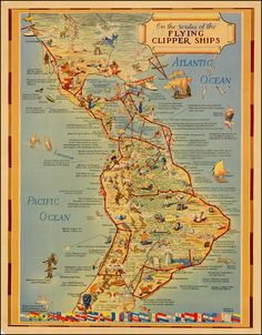 On the routes of the Flying Clippers by Kenneth Thompson. Date: c 1940