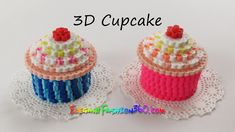 DIY Perler/Hama Beads Cupcake 3D - How to Tutorial by Elegant Fashion 360