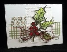 SC361 Music and Holly by jaydekay - Cards and Paper Crafts at Splitcoaststampers