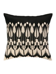 Trina Turk Lomita Embroidered Pillow, Black