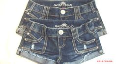 """LOT OF TWO """"ALMOST FAMOUS"""" SHORT/SHORT SHORTS!!!!  WITH FREE SHIPPING!!!  go to ::::  http://4SeasonsDesignerJeans2013.webstoreplace.com"""