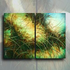 """48/"""" OPEN EDITION Giclee Canvas Print  of a Mix Lang ABSTRACT painting with C.O.A"""
