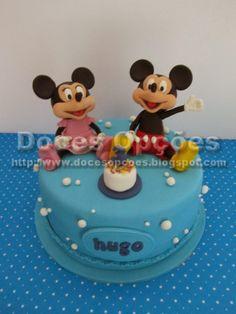 Doces Opções: Bolo Mickey e Minnie