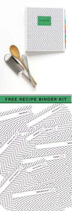 Free Printable Recipe Kit from @PagingSupermom to Organize Your Recipes in a Cute Binder