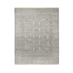 Luke Irwin, Cladius Mosaic Hand Knotted Rug, 9x12', Drizzle
