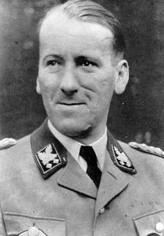 Ernst Kaltenbrunner (4 October 1903 – 16 October 1946) was an Austrian-born senior official of Nazi Germany during World War II. Between January 1943 and May 1945, he held the offices of Chief of the Reichssicherheitshauptamt (RSHA, Reich Main Security Office), President of Interpol and, as a SS-Obergruppenführer und General der Polizei und Waffen-SS, he was the highest-ranking Schutzstaffel (SS) leader to face trial at the first Nuremberg Trials. He was found guilty and hanged.