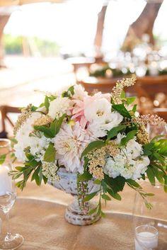 Low Centerpieces - Fleurs de France   Napa Wedding Flowers