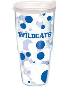 Kentucky Wildcats 24oz polka dot Tervis tumbler at End Zone Apparel