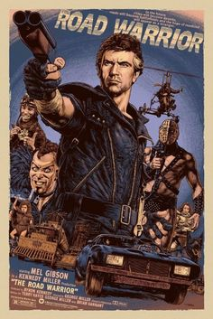 Max, The Road Warrior Mad Max 2 & 3 brilliant movies.Mad Max, The Road Warrior Mad Max 2 & 3 brilliant movies. Pop Posters, Best Movie Posters, Cinema Posters, Movie Poster Art, Film Science Fiction, Fiction Movies, Pulp Fiction, Old Movies, Vintage Movies
