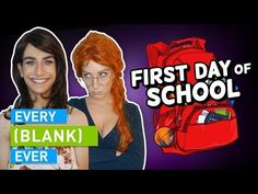 The first day of school - whether it's being lost in the hallways, being the new kid, forgetting summer reading, or more, this is EVERY FIRST DAY OF SCHOOL E. Shayne Topp, English Caption, Smosh, One Day, New Kids, First Day Of School, Creative Director, Author, Reading