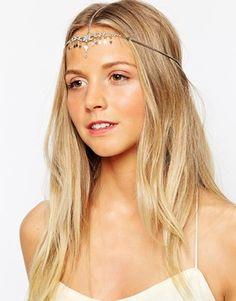 Orelia - Couronne de cheveux à cristaux et strass