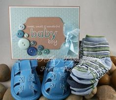 AmyR The Best Baby Boy Card with gifts by AmyR