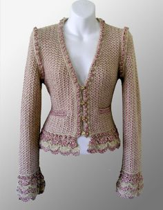 Knitting Pattern Chanel Style Jacket : 1000+ images about Chanel style on Pinterest Chanel, Chanel jacket and Chan...