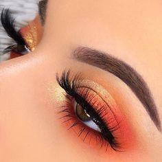 ColourPop Orange You Glad Palette This colourpop eyeshadow one of the best eyesh. - ColourPop Orange You Glad Palette This colourpop eyeshadow one of the best eyeshadow palettes, Colo - Eye Makeup Steps, Makeup Eye Looks, Eye Makeup Art, Cute Makeup, Eyeshadow Makeup, Makeup Inspo, Makeup Ideas, Eyeshadow Guide, Eyeshadow Ideas