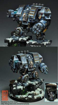 40k - CoolMiniOrNot - Space wolves Venerable Dreadnought by EricChan