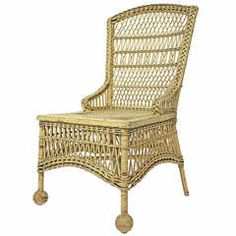 Victorian Wicker Wingback Chair