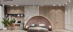 Highlights project e-house design interior on Behance Modern Master Bedroom, Modern Bedroom Design, Master Bedroom Design, Bed Design, Modern Interior Design, House Design, Guest Bedrooms, Bedroom Sets, Kids Bedroom