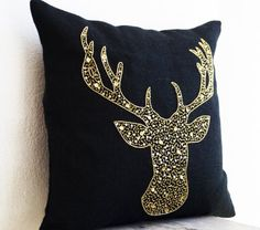 Deer Pillow Cover - Animal Pillows with Stag Embroidered ... https://www.amazon.co.uk/dp/B00F5HIJ92/ref=cm_sw_r_pi_dp_evNyxbVNP66QP