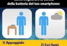 Come migliorare la batteria del tuo smartphone: Appoggialo sul tavolo. Esci al sole