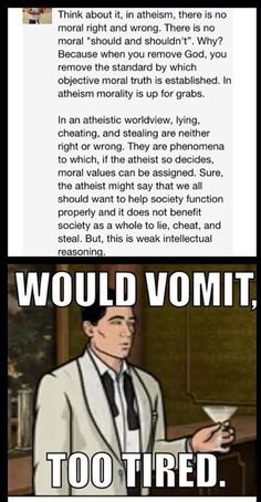 Weak intellectual reasoning, as opposed to doing something because a 2000 year old book told you to do...