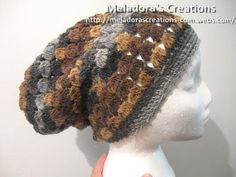 Crochet Slouch Cluster Stitch Slouch hat 1 600 WM - Your place to learn how to Crochet the Cluster Stitch Slouch Hat for FREE. by Meladora's Creations - Free Crochet Patterns and Video Tutorials Crochet Beanie, Knitted Hats, Crochet Hats, Slouch Hats, Crochet Designs, Crochet Patterns, Hat Patterns, Stitch Patterns, Knitting Patterns