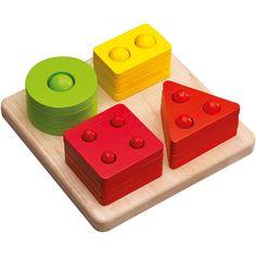 Le jeu d'encastrement formes et chiffres par Wonderworld favorise la compréhension des formes et des chiffres.