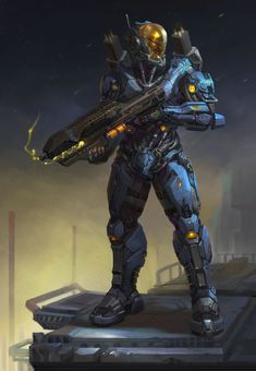 Tagged with art, sci fi, creativity, armour; Gotta wear armour in usersub Cyberpunk, Futuristic Armour, Futuristic Art, Fantasy Character Design, Character Art, Character Concept, Halo Armor, Space Opera, Combat Armor