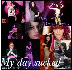 """""""My first day of high school sucked.. ;c ;'("""" by cher-lloyd-anon-loves ❤ liked on Polyvore"""