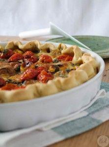 Eggplant, mozzarella and tomato #tart   theoDORA's kitchen diaries