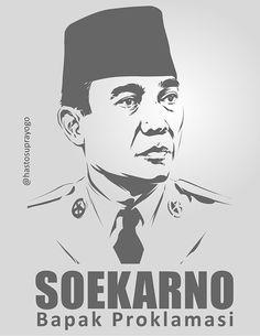 Soekarno - Bapak Proklamasi by astayoga.deviantart.com on @DeviantArt