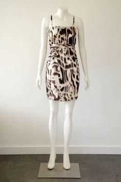 Scanlan & Theodore  100% Silk Sleeveless Straight Neck Dress EUC {Size 8}
