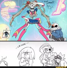 Papyrus dressed as Sailor Moon / Girl you look fabulous
