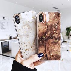 Luxury Gold Foil Bling Marble Phone Case For iPhone X XS Max XR 7 8 6 Plus Glitter Case Features: *. This case is designed for Apple iPhone 6 Iphone 8 Plus, Case Iphone 6s, Marble Iphone Case, Marble Case, Free Iphone, Samsung Cases, Samsung Galaxy, Coque Smartphone, Coque Iphone 6