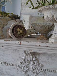 Chateau Chic: Spring Mantel