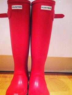 #hunterboots#red#color#welly#cold#day von lulufisa auf STYLIGHT