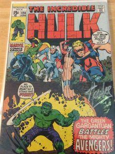Incredible Hulk # 128 Stan Lee autographed